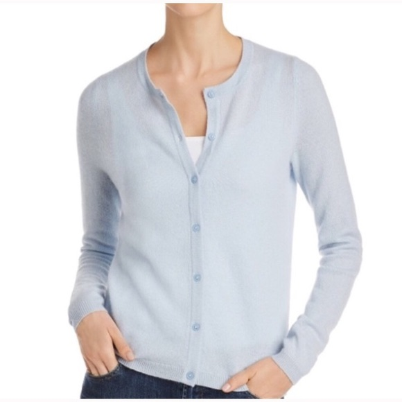 Bloomingdales Cashmere Sweater Cardigan Button Up